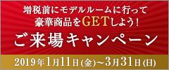 <インターネットご来場予約限定!>ご来場キャンペーン